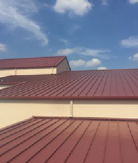 roof with red color